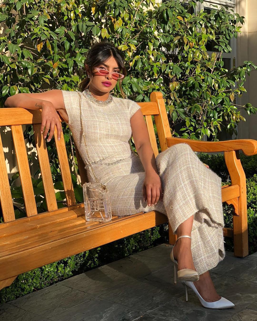 Priyanka Chopra, Chanel perfume bag