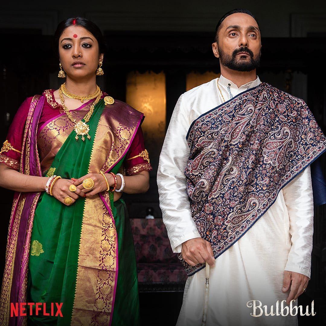 Rahul Bose wearing Dusala Kashmir shawl in Netflix's Bubbul