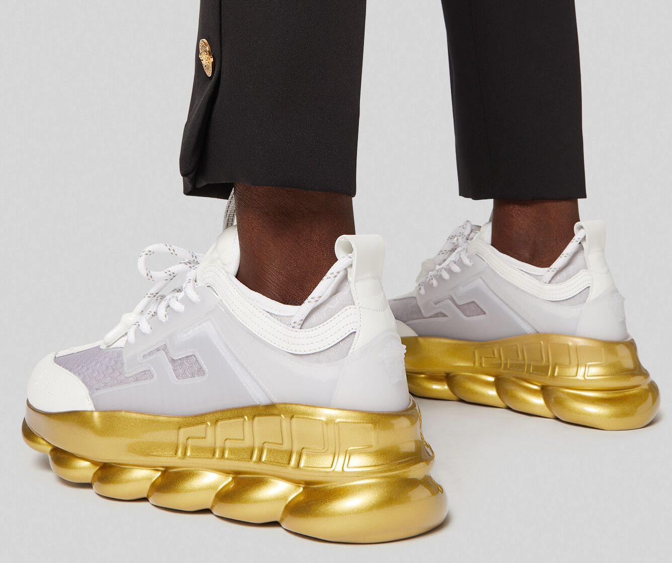 Versace, Chain Reaction platform sneakers
