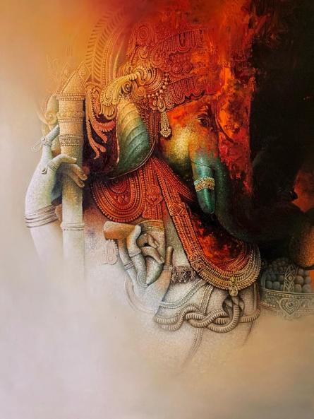 Ganesha by Amit Bhar. Courtesy: Artzolo