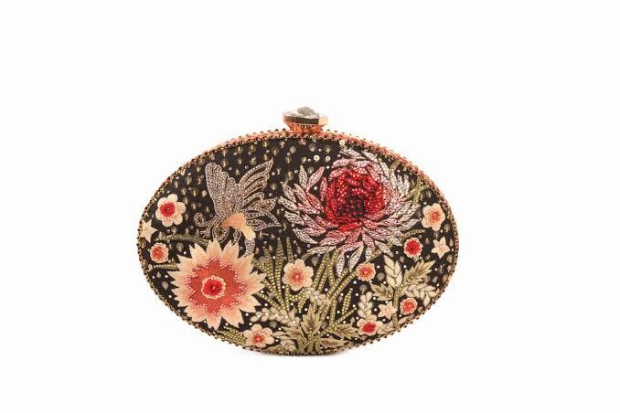 Flower Embellished Clutch by Tarun Tahiliani