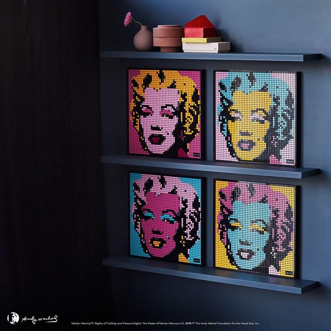 Andy Warhol's Marilyn Monroe. Source: Intagram - Lego