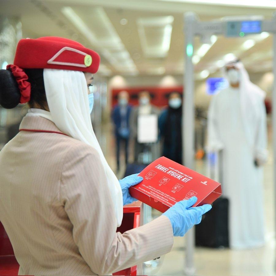 Travel Hygiene kits. Source: Instagram - Emirates