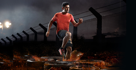 M.S Dhoni. Courtesy: Sportsfit World