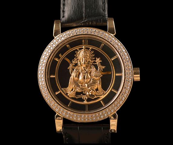 Solid Gold Ganesha watch. Courtesy: Goldgenie