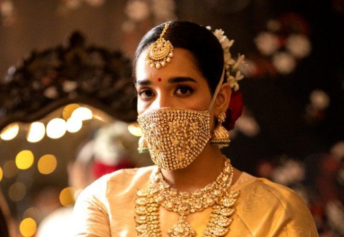 Tara Sri diamond-studded face mask