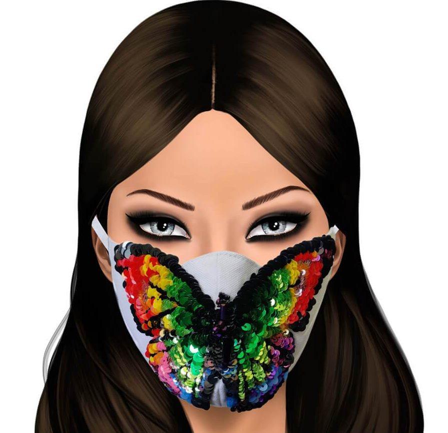 World of Gaya embellished face masks