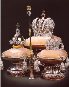 Fabergé miniature replicas of the Russian Imperial crown jewel