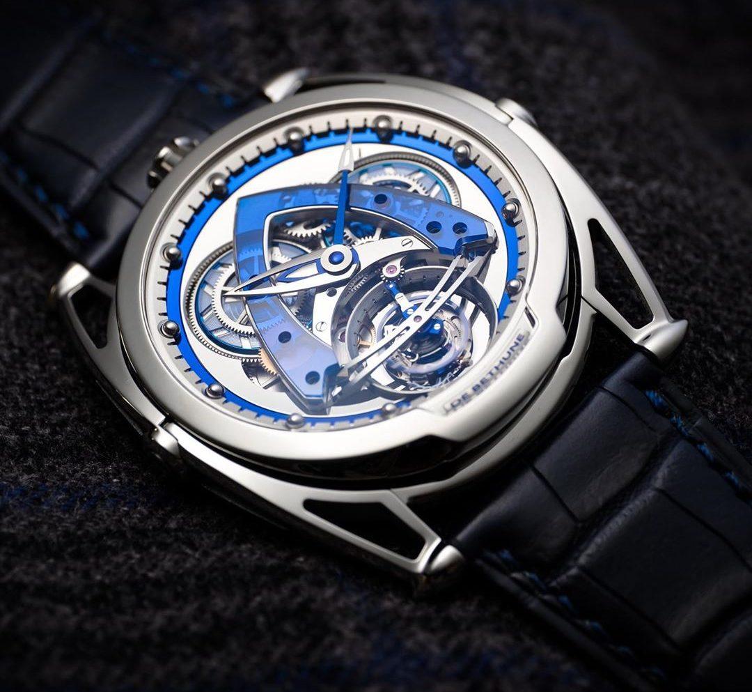 Geneva Watch Days- De Bethune DB28 Steel Wheels Sapphire Tourbillon