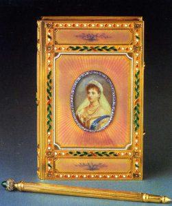 Fabergé Imperial Carnet de Bal with guilloché enamel