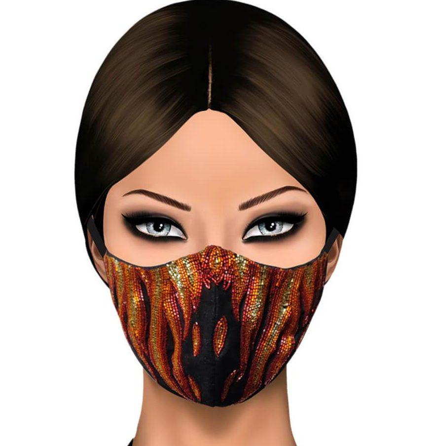 The World of Gaya embellished face masks