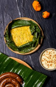 Masque Corn Pudding Tamale and goan sausages