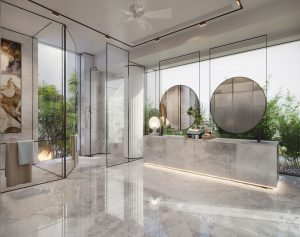 luxurious bathroms, natural light, interior decor
