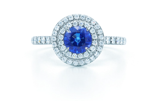 Sapphire and Diamond ring, Tiffany and Co