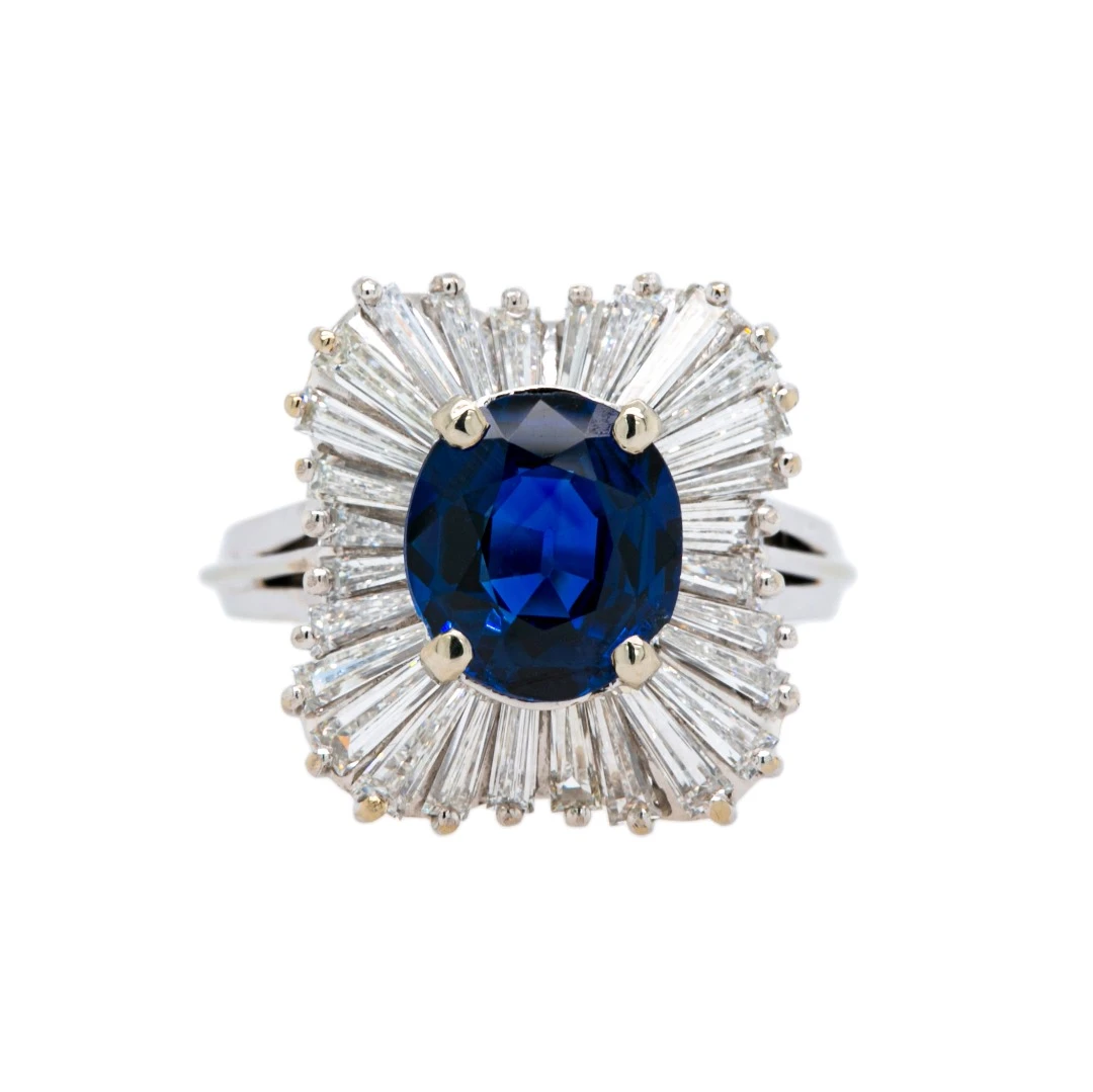 sapphire and diamond ballerina ring, Trumpet and Horn