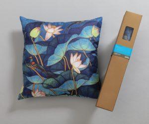 A. Ramachandran art print on a cushion cover