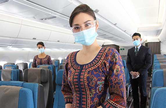 Singapore Airlines' crew