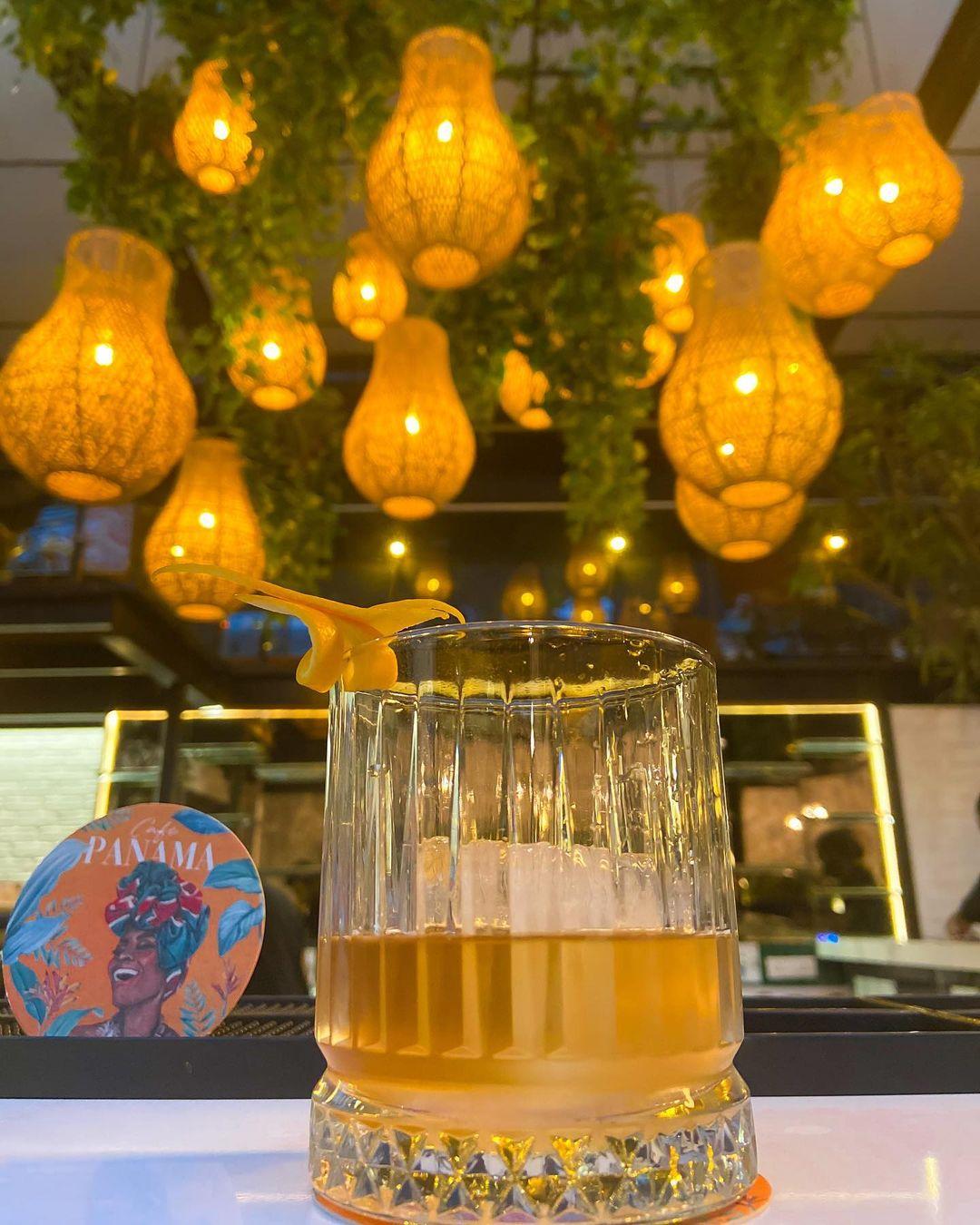 Panama (tequila infused with rosemary, thyme and orange zest). Photo courtesy: Instagram/Café Panama