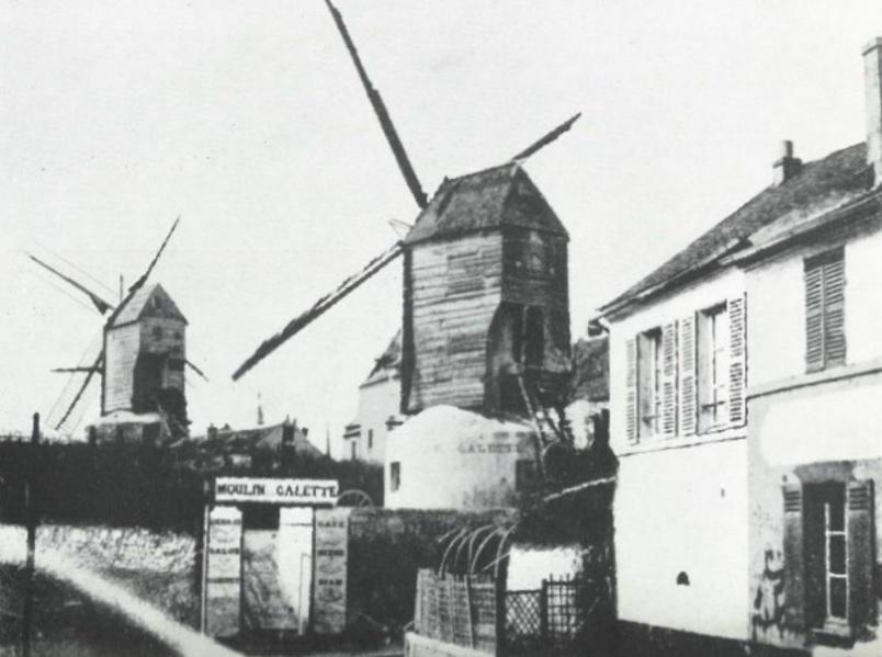 Main entrance of Moulin de la Galette, end of the 19th Century. Photo courtesy: Sotheby's