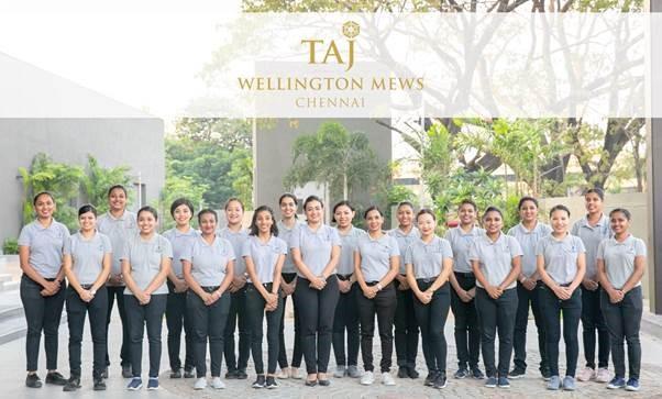 The all women team at Taj Wellington Mews, Chennai