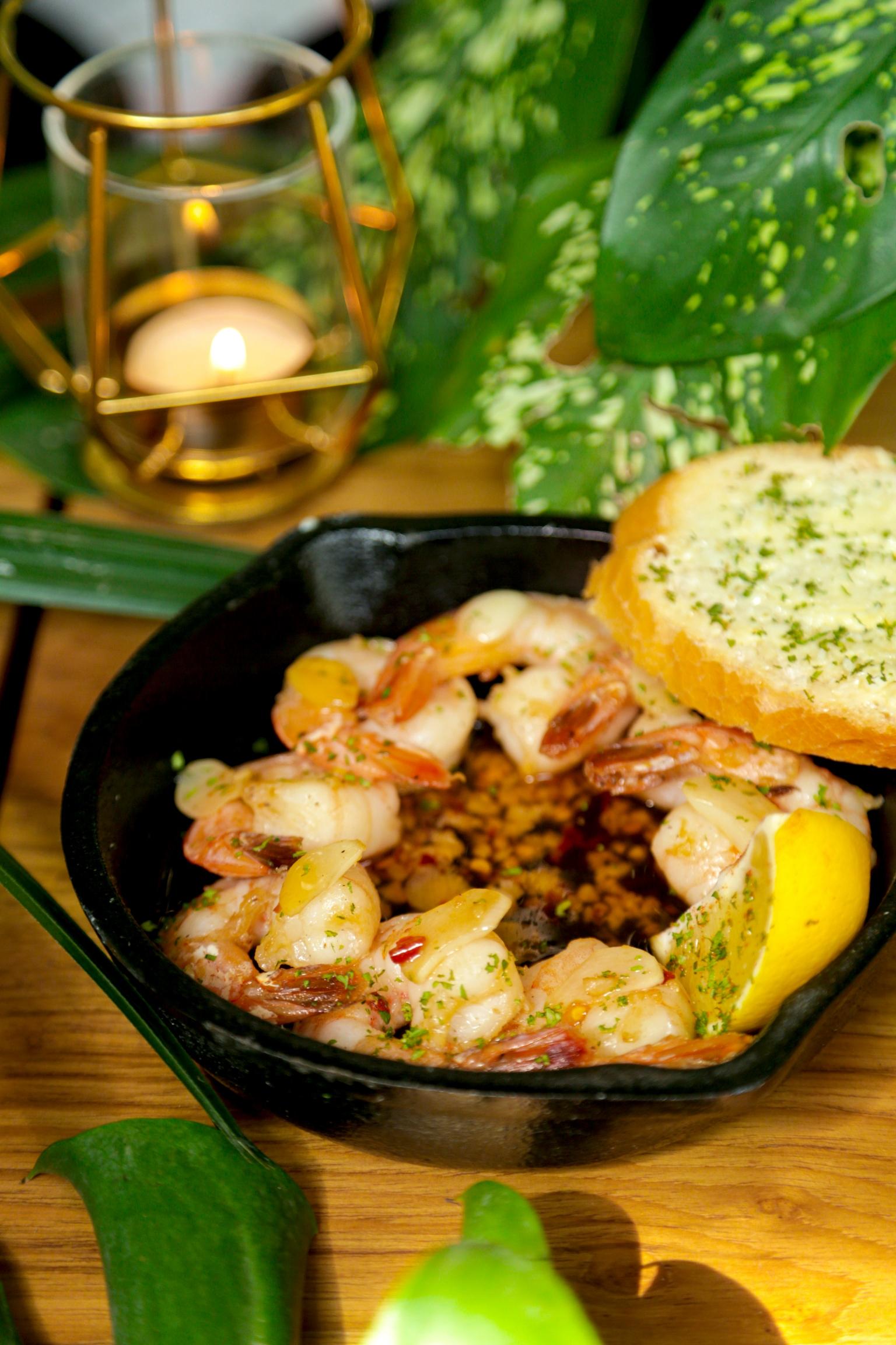 Mexican Shrimp Skillet at Cafe Panama, Lower Parel