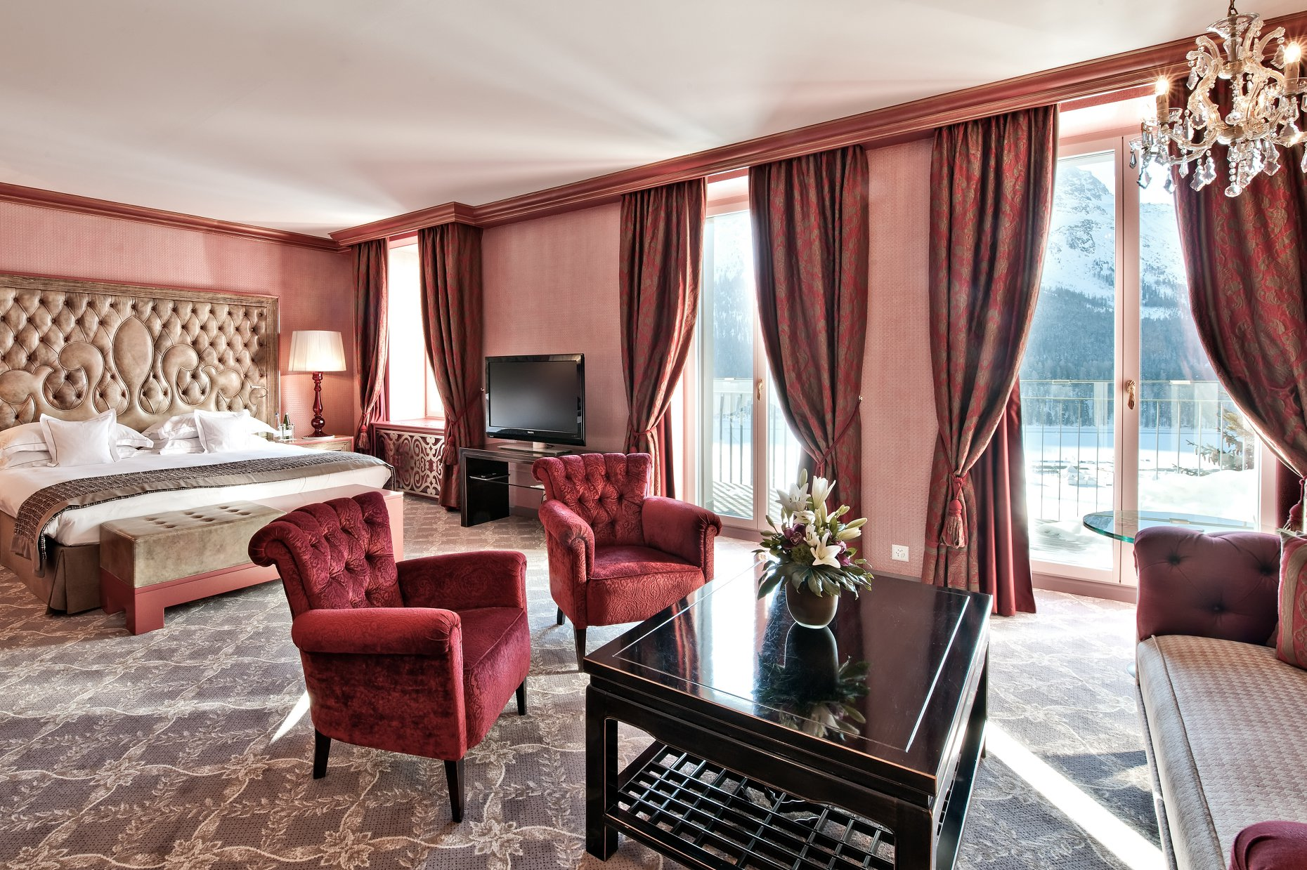 Alp-facing suite at Carlton Hotel St Moritz