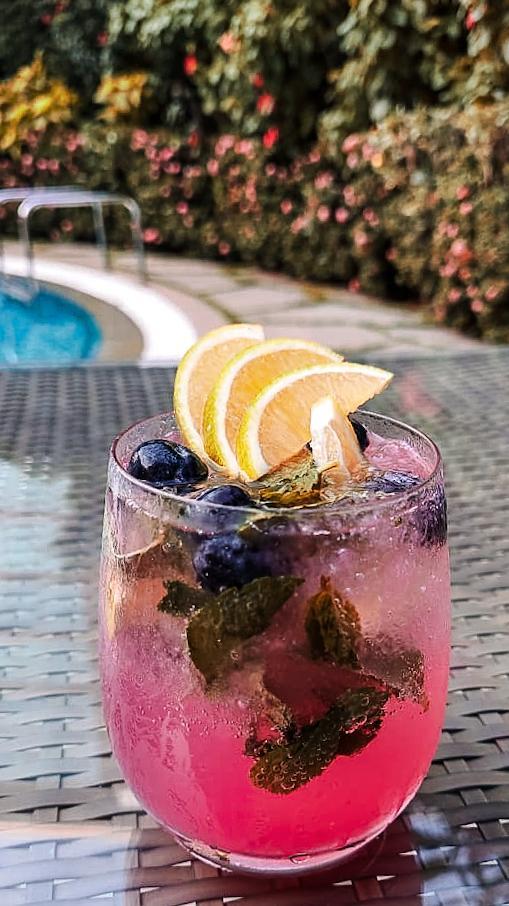 Blueberry and Sweet Lime/Grapefruit Caipiroska