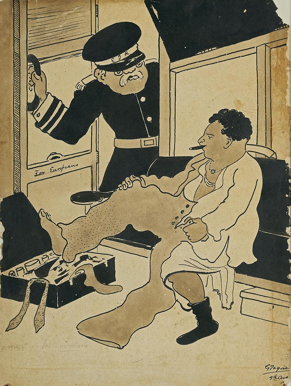 Gagendranath Tagore's 'Untitled', gouache on paper, circa 1930