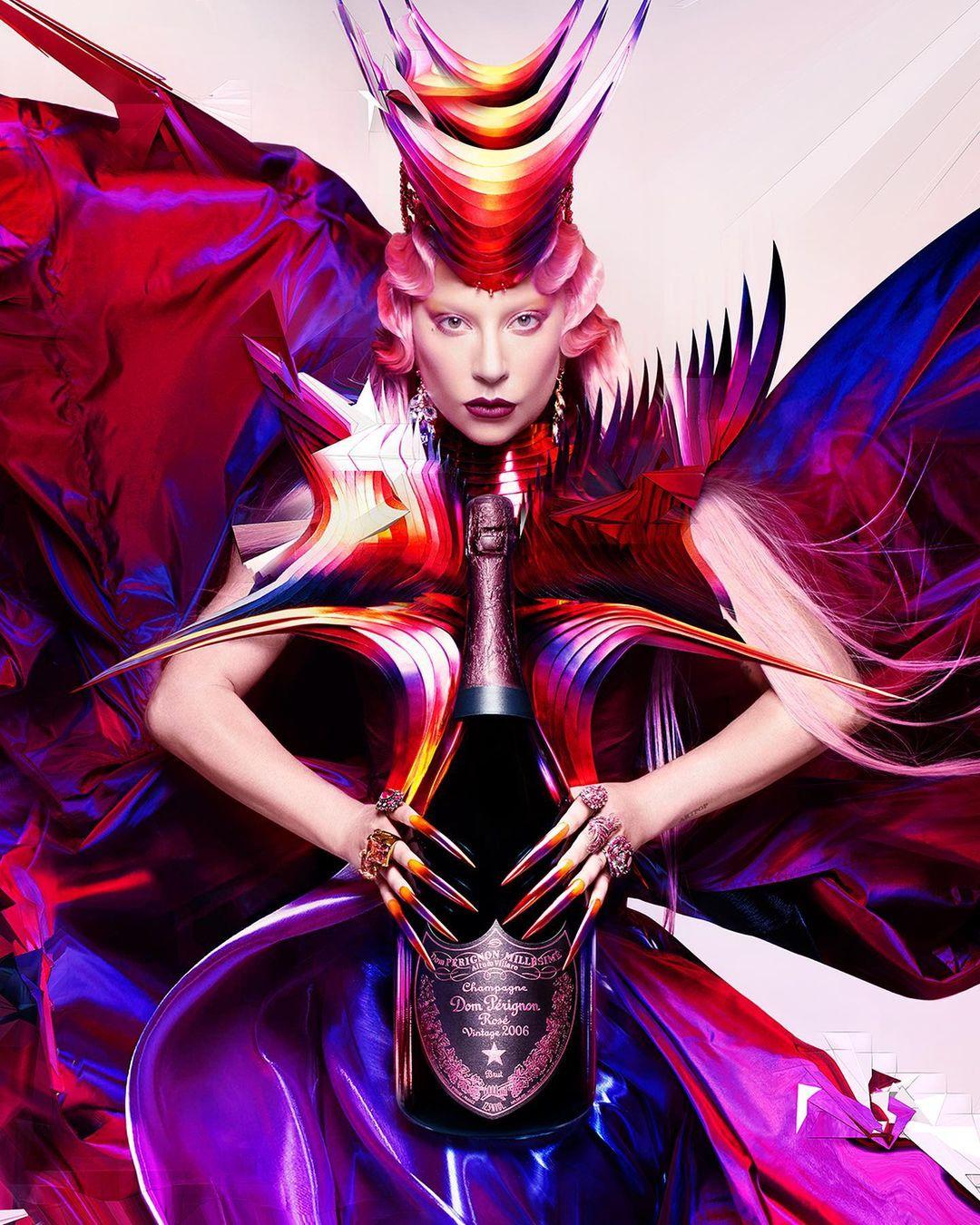 Lady Gaga in a dress by Miodrag Guberinic