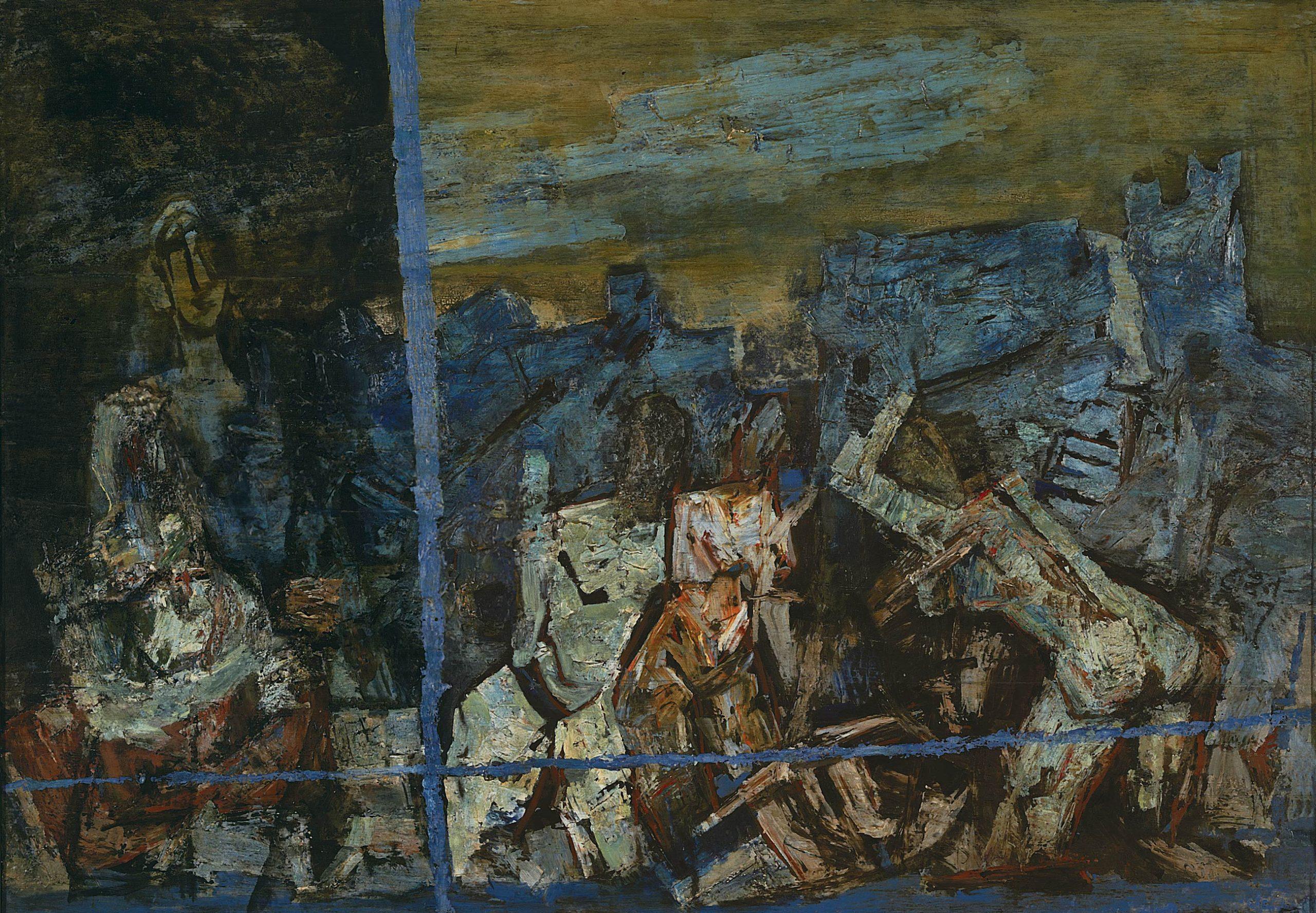 MF Husain's 'Blue Ganges' (lot 11)