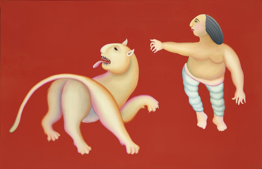 Manjit Bawa Untitled Circa 1995, was sold at ₹4,13,04,695