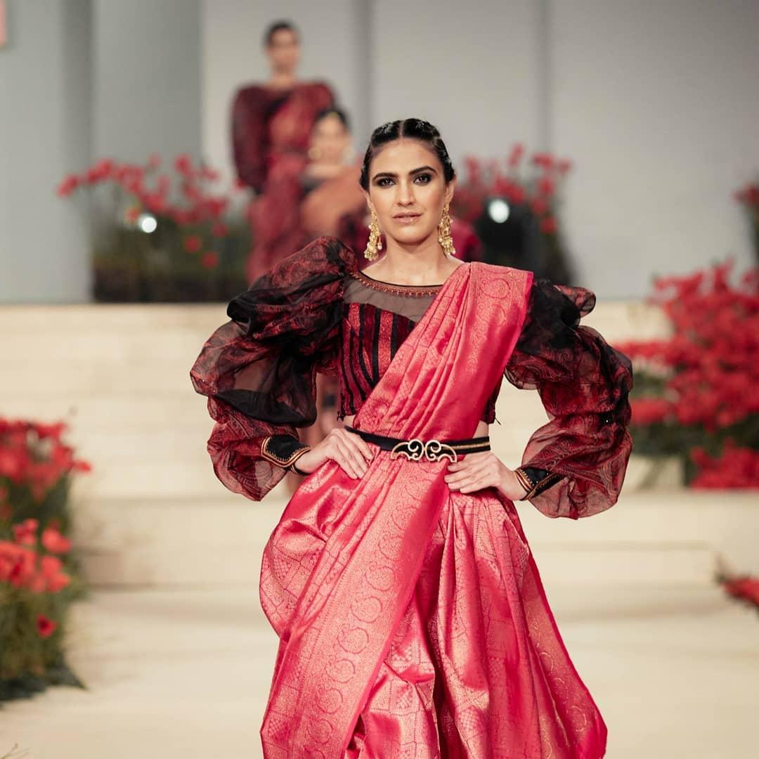 Beena Kannan's debut collection of silk Kanchipuram outfits