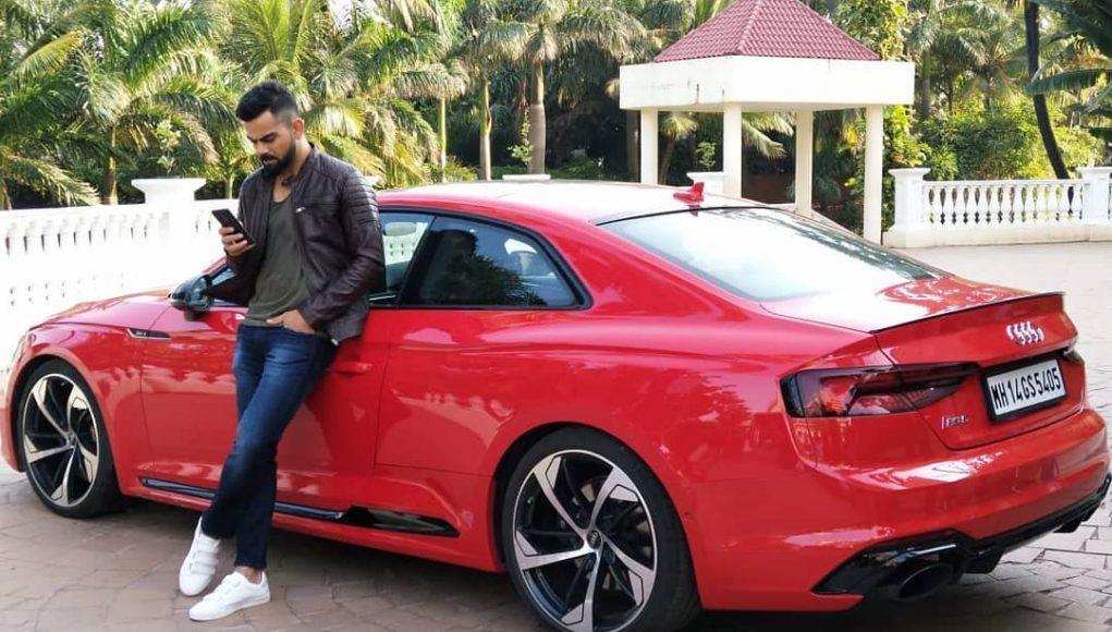 Virat Kohli with Audi car