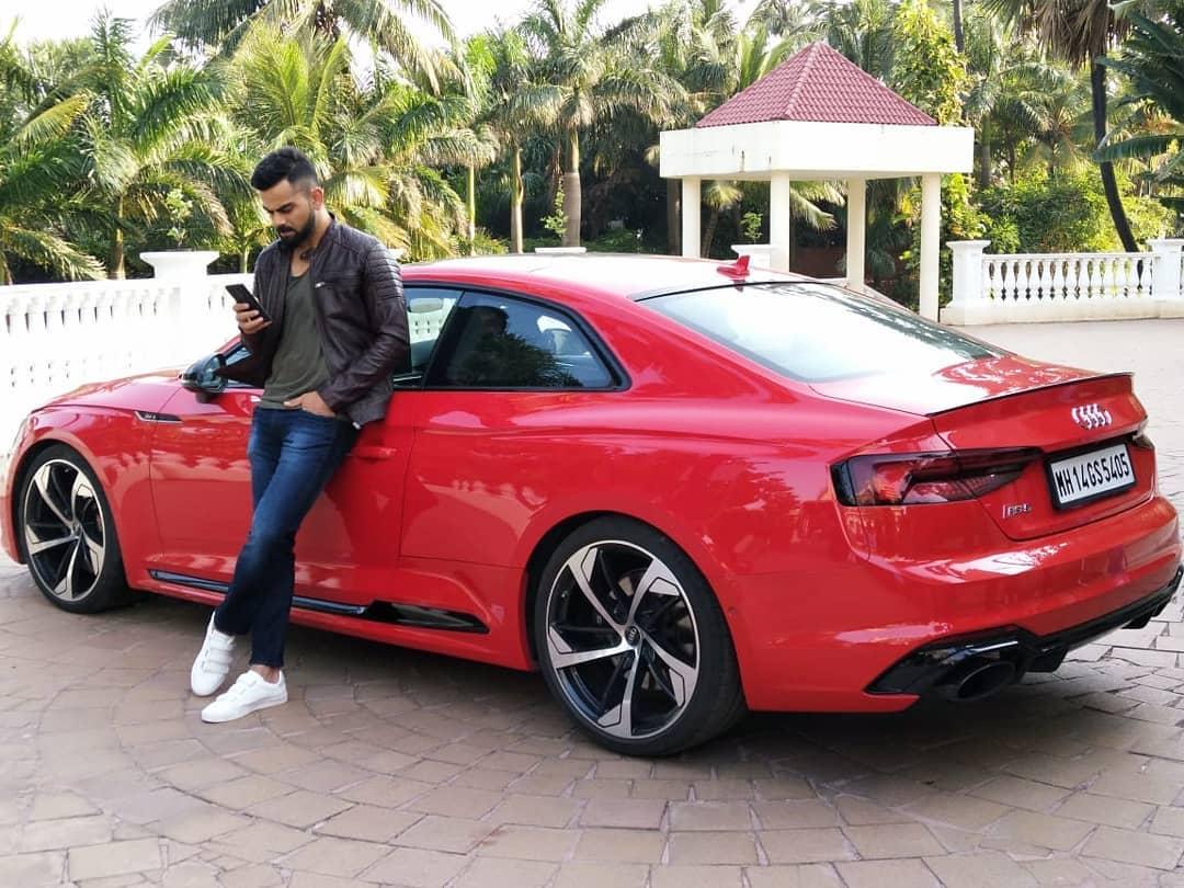 Virat Kohli with Audi RS5 / Instagram