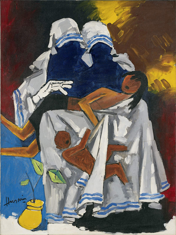 MF Husain's Untitled (Mother Teresa Series) circa 1930