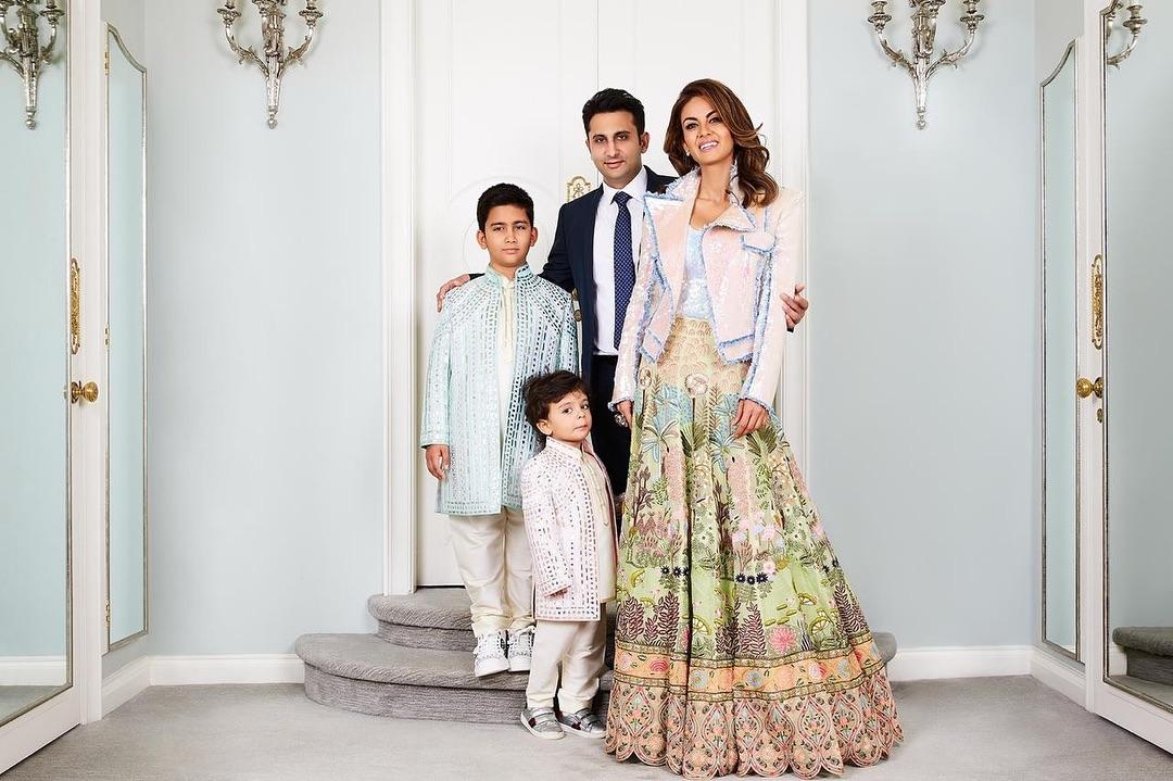 Adar and Natasha Poonawalla with their kids Cyrus and Darius / Photo: Instagram
