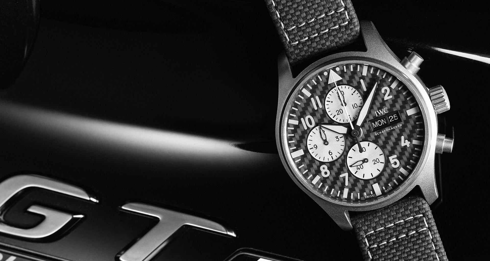 IWC Schaffhausen x Mercedes-AMG launch Pilot's Chronograph