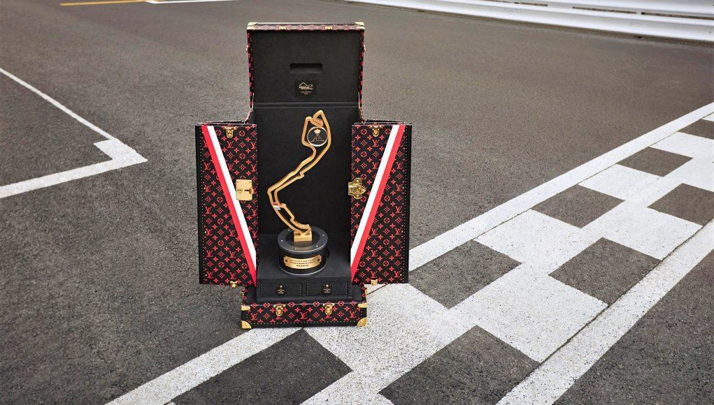 Louis Vuitton handcrafts a travel trophy case for Monaco Grand Prix