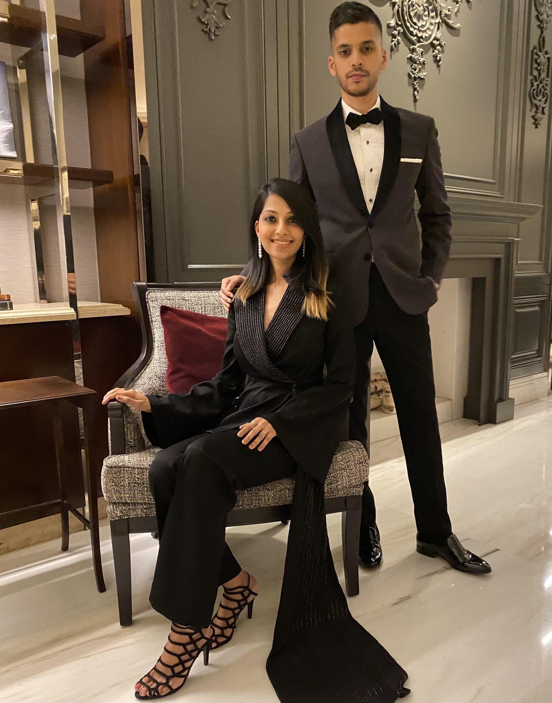 Designers Sarah and Sandeep