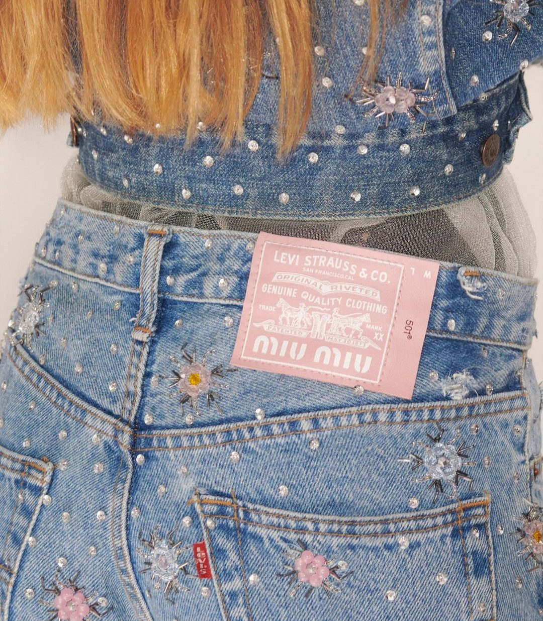 Upcycled By MiuMiu collaboration with Levi's®