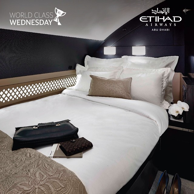 Bedroom in Etihad's The Residence