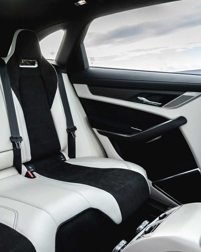 Seats inside the Jaguar F-Pace