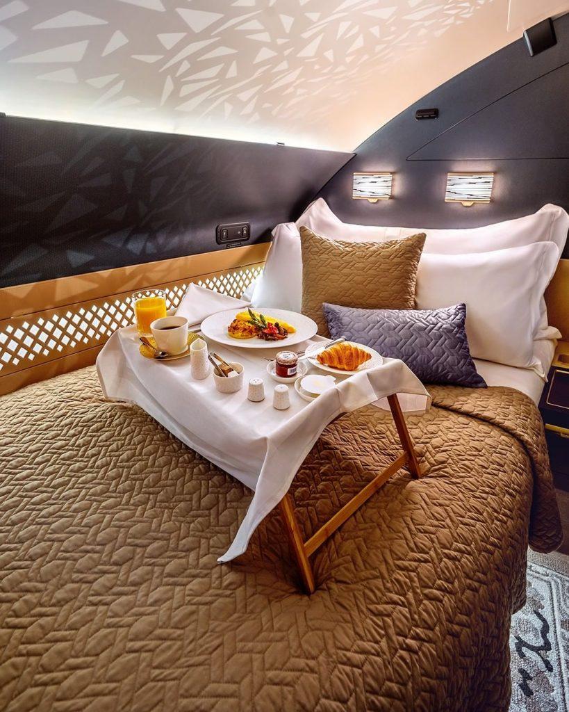 Breakfast in Bed in Etihad's The Residence