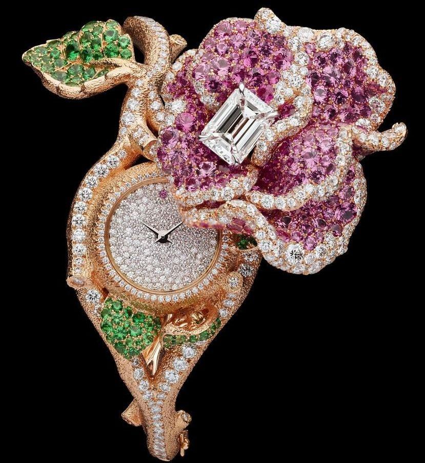 Dior Rose Haute Joaillerie watch