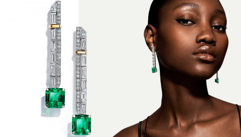 Colombian emerald earrings - Tiffany & Co. high jewellery