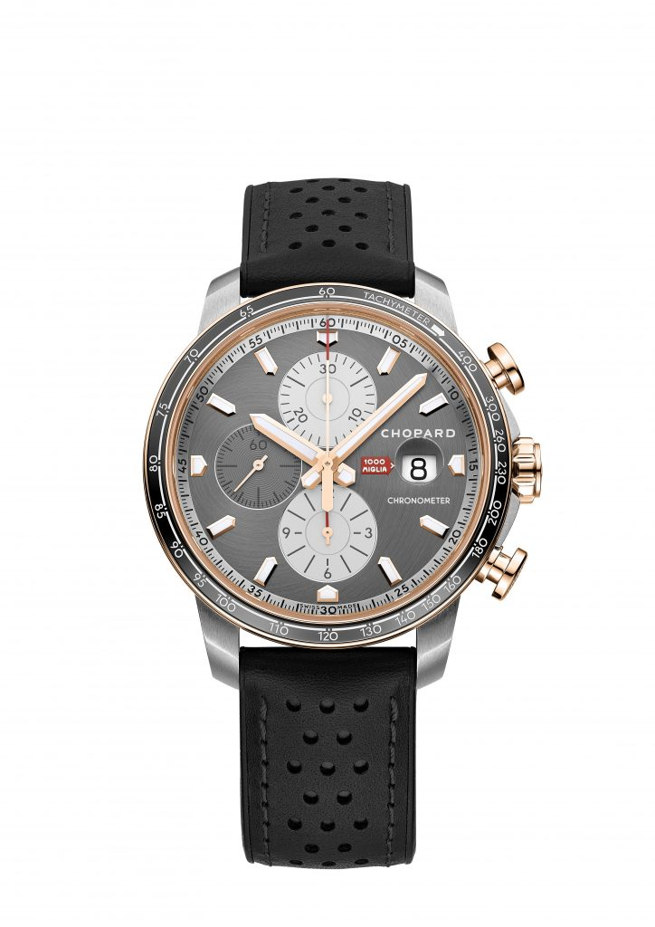 Chopard Mille Miglia 2021 250-piece stainless steel and 18-carat rose gold Chronographer