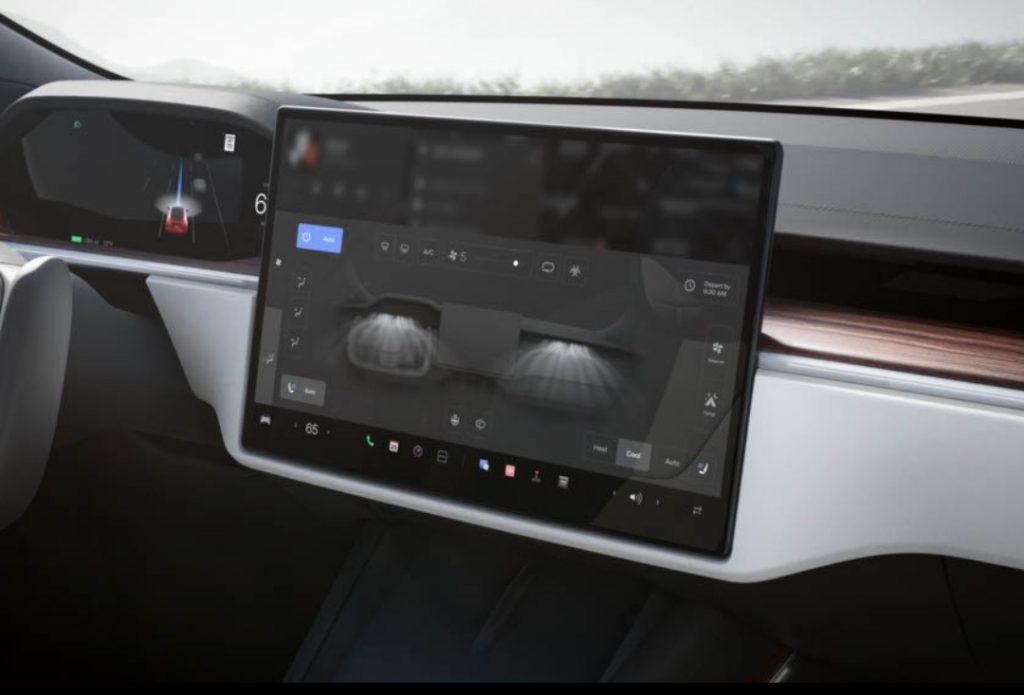 Touchscreen display in the Tesla Model S