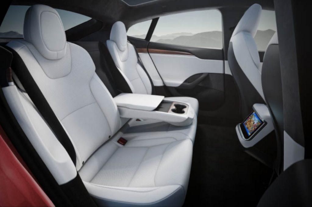 Tesla Model S Plaid rear seats