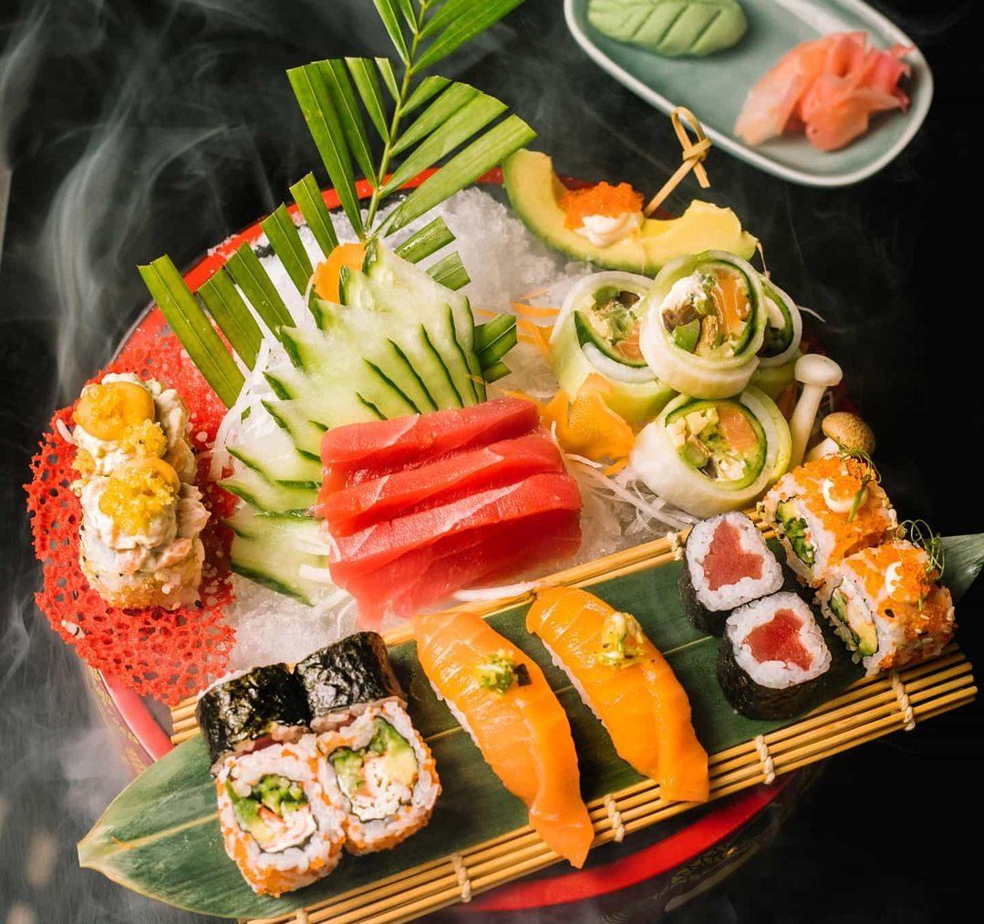 Yazu Mumbai sushi platter
