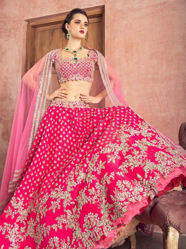 Rawsilk Zardozi Embroidery Lehenga by Anushree Reddy